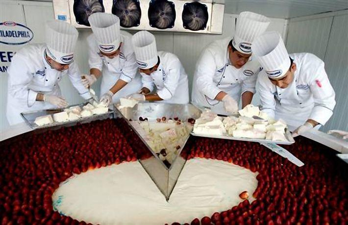le plus grand gâteau au fromage blanc du monde - paperblog