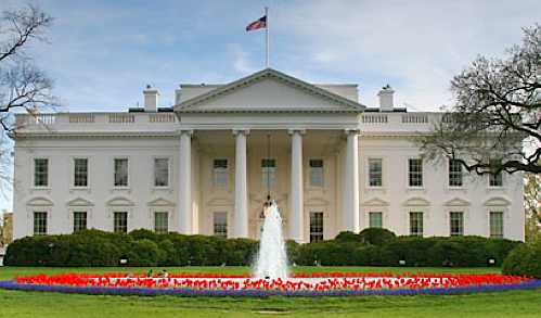 Elegant design of the White house