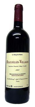 Domaine Lapalu beaujolais village 2007 le rang du merle