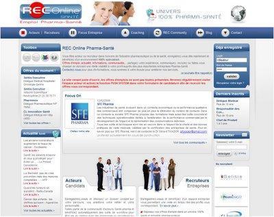 Lancement de REC Online : portail emploi secteur médical et pharma