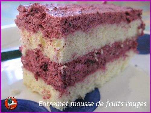 Entremet mousse de fruits rouges