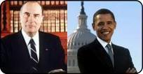 Mitterrand et Obama