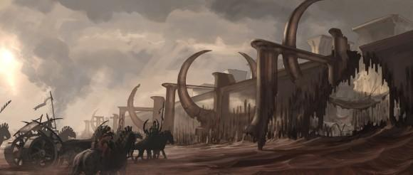 John carter of mars, cinq concept arts.