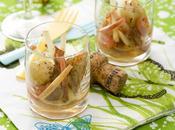 Recette Verrine Saint-Jacques, lard fumé, pomme acidulée sauce gingembre