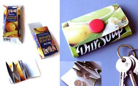 un porte monnaie à faire soi-même en pack de lait