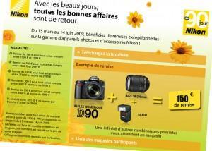 Les 90 jours bonnes affaires de Nikon