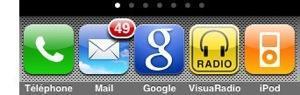 five icon dock 10 applications que jutilise sur mon iPhone jailbreaké