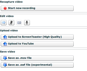 screen toaster 1 ScreenToaster supporte YouTube et le format mov