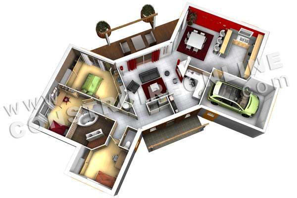 Beliebt Modèle BUTTERFLY - plan de maison originale | À Découvrir ID99