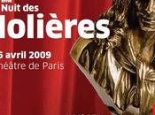 Soirée Molières 2009 nominations