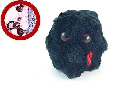 Peluches microbes