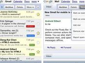Gmail version mobile, mode hors connexion nouvelle interface