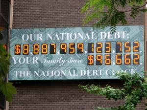 La National Debt Clock de Manhattan