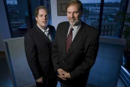 Alain Bolduc et André Leroux, respectivement chef de l'exploitation et PDG de Noveko.