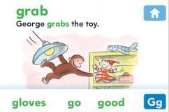 Le dictionnaire pédagogique George le petit curieux sur iPhone