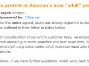Amazon déclassement livres gay-lesbienne, réaction auteurs