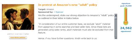 Amazon : déclassement de livres gay-lesbienne, réaction des auteurs
