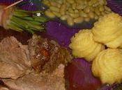 Gigot d'agneau, fagots haricots verts, flageolets