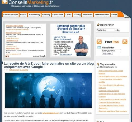 conseils marketing 500x462 BlOg'X Office #2 : petit medley du Web