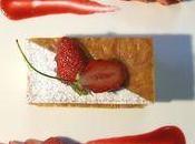Feuilleté pâte filo croustillant mousse chocolat blanc, gariguettes coulis fruits rouges...