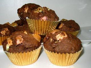 Muffins au Chocolat et aux Guimauves ( Marshmallows )