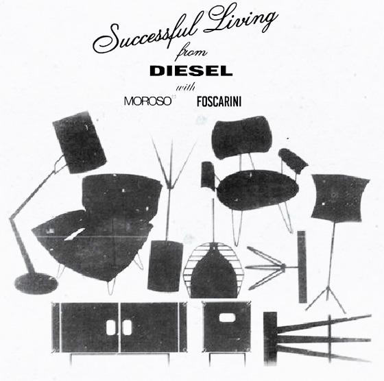 Tables, chaises, lampes Diesel