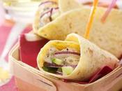 Recette Wraps thon, concombre oignon