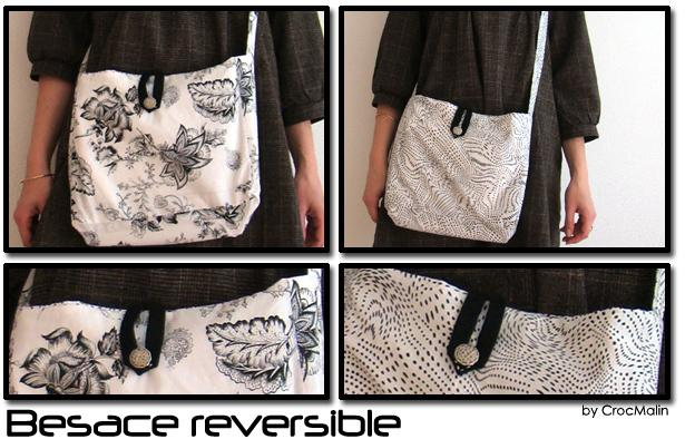 Couture : Besace reversible