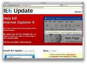 IE6 update message
