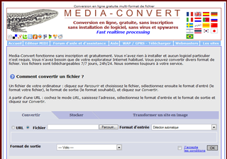 Séléction de 2 sites de conversion de fichiers en ligne gratuit (vidéo, audio, photo ...)