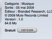 Depeche Mode SOTU iPhone application