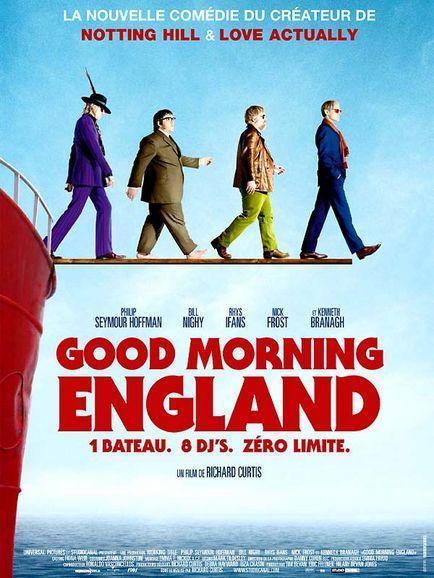 GOOD MORNING ENGLAND de RICHARD CURTIS avec PHILIP SEYMOUR HOFFMAN, RHYS IFANS, EMMA THOMPSON, KENETH BRANAGH