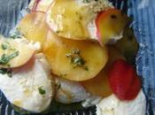 Carpaccio nectarines mozzarella