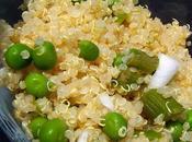 Salade Quinoa blond asperges vertes Petits pois