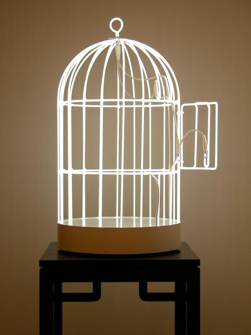 bird cage sculpture only