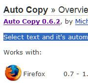 autocopy Top 10 Extensions Firefox Edition 2009