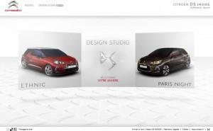 CITROEN DS INSIDE // Configurateur de voiture