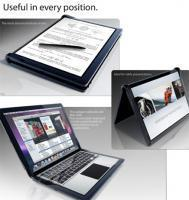 Un MacBook avec écran tactile pour lire des ebooks