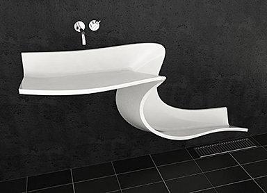 un torrent de design dans votre salle de bain - paperblog - Salle De Bain Moderne Design