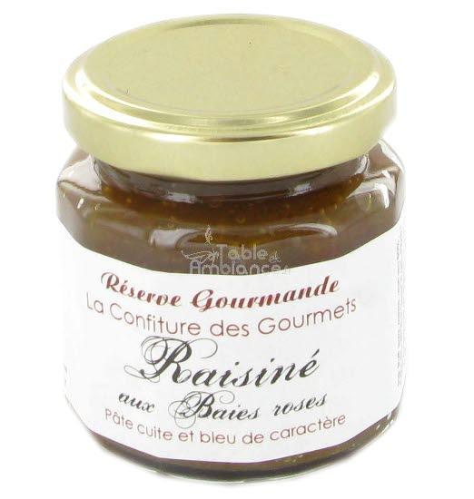 Confiture Raisiné aux baies roses