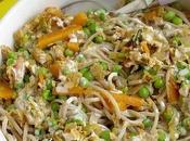 Pâtes soba légumes printaniers crème soja