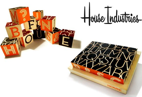 HOUSE INDUSTRIES // neutraface slab alphabet blocks