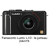 Comparatif Compacts : Panasonic Lumix LX3