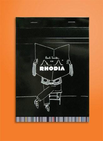 Paul Smith customise les célèbres carnets oranges Rhodia !