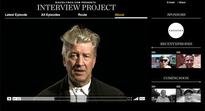 Interview Project : David Lynch on the road again