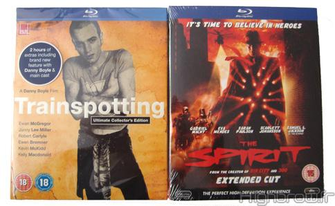 Arrivage - Blurays Trainspotting et The Spirit (versions exclusives hmv)