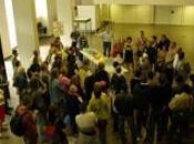 marcheurs sans-papiers Nord fait halte l'hôtel ville Valenciennes