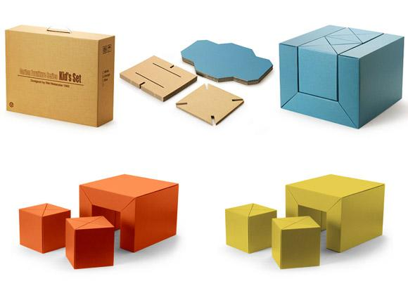 TOKYON METROPOLITAN GALLERY // carton furniture series for kids