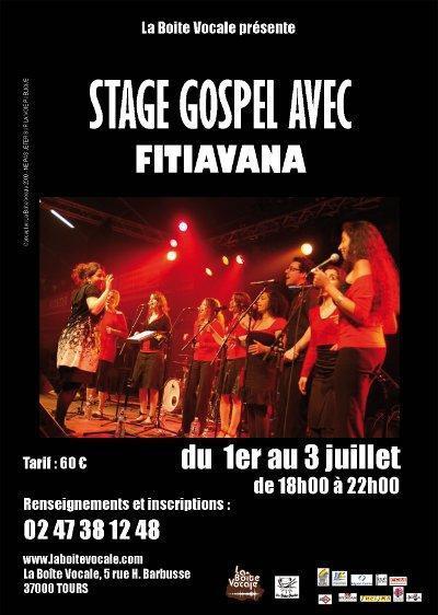 Stage Gospel avec Fitiavana