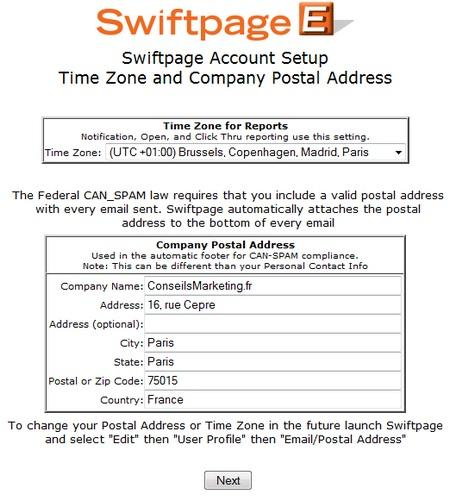 solution emailing gratuite swiftpage